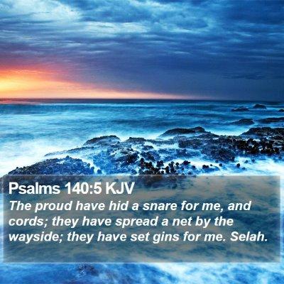 Psalms 140:5 KJV Bible Verse Image