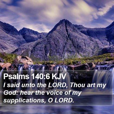 Psalms 140:6 KJV Bible Verse Image