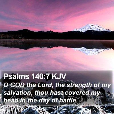 Psalms 140:7 KJV Bible Verse Image