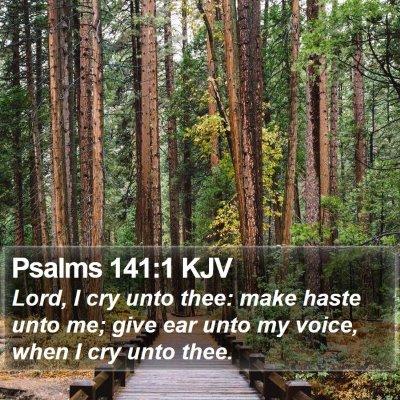 Psalms 141:1 KJV Bible Verse Image
