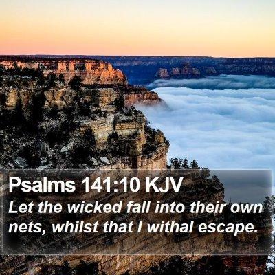 Psalms 141:10 KJV Bible Verse Image