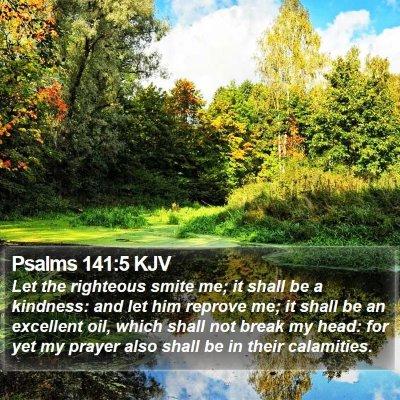 Psalms 141:5 KJV Bible Verse Image