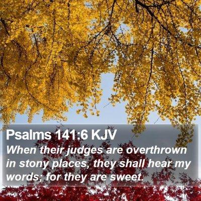 Psalms 141:6 KJV Bible Verse Image