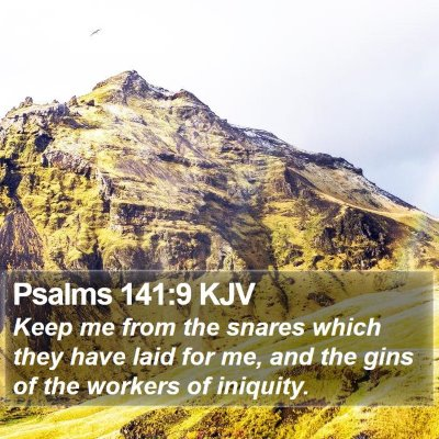 Psalms 141:9 KJV Bible Verse Image