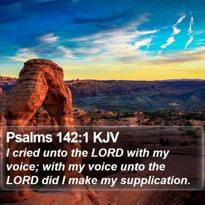 Psalms 142:1 KJV Bible Verse Image