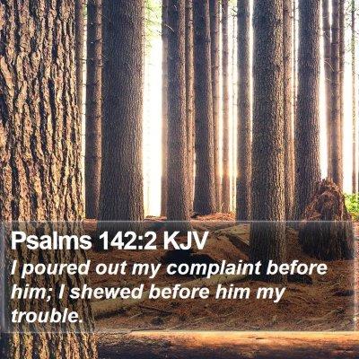 Psalms 142:2 KJV Bible Verse Image