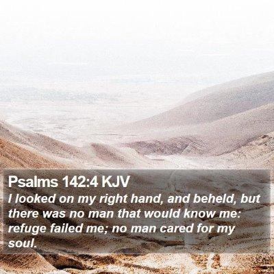 Psalms 142:4 KJV Bible Verse Image