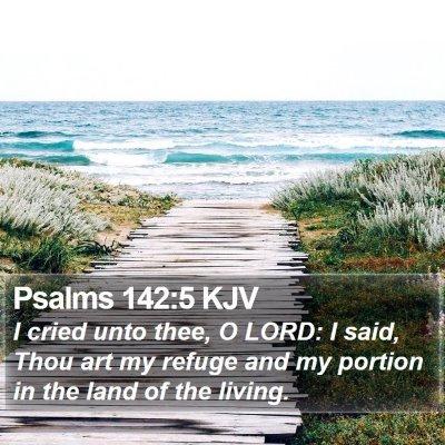 Psalms 142:5 KJV Bible Verse Image