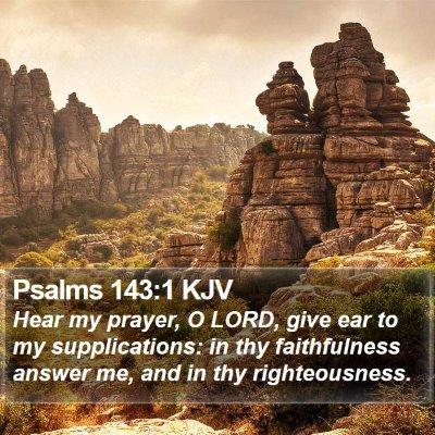 Psalms 143:1 KJV Bible Verse Image
