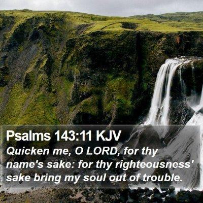 Psalms 143:11 KJV Bible Verse Image