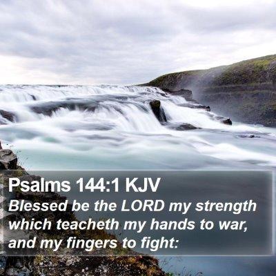 Psalms 144:1 KJV Bible Verse Image
