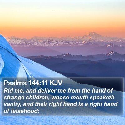 Psalms 144:11 KJV Bible Verse Image