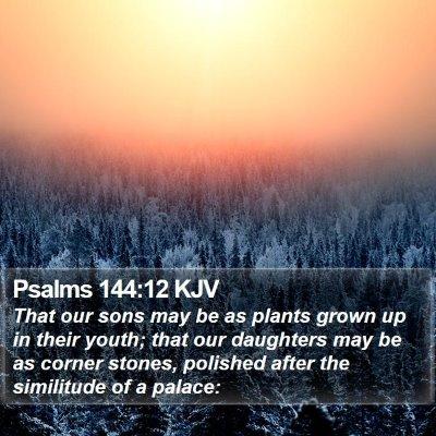 Psalms 144:12 KJV Bible Verse Image