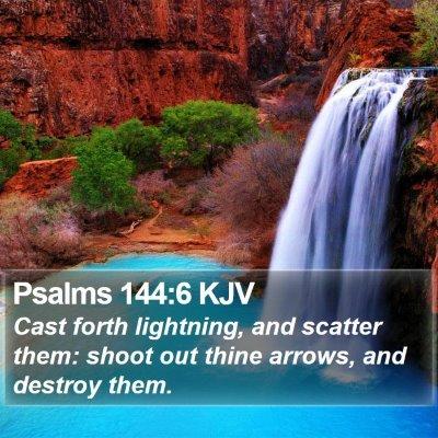 Psalms 144:6 KJV Bible Verse Image