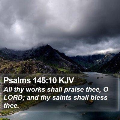 Psalms 145:10 KJV Bible Verse Image