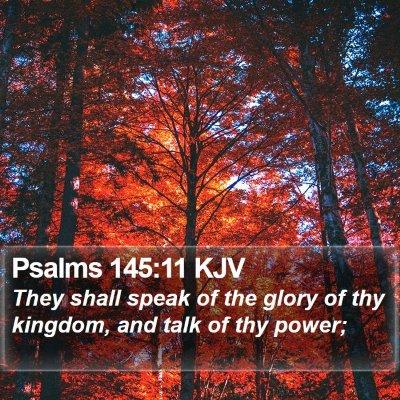 Psalms 145:11 KJV Bible Verse Image