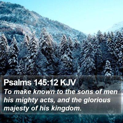Psalms 145:12 KJV Bible Verse Image
