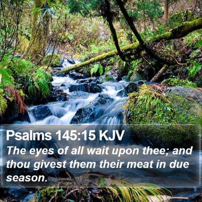 Psalms 145:15 KJV Bible Verse Image
