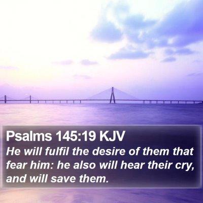 Psalms 145:19 KJV Bible Verse Image