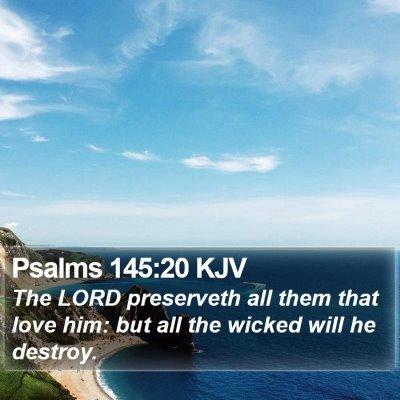 Psalms 145:20 KJV Bible Verse Image