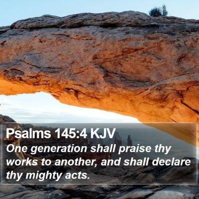 Psalms 145:4 KJV Bible Verse Image