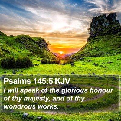 Psalms 145:5 KJV Bible Verse Image
