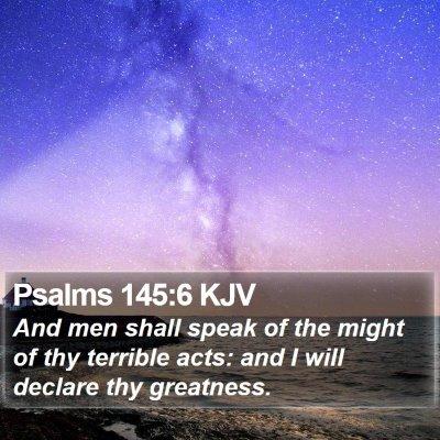 Psalms 145:6 KJV Bible Verse Image