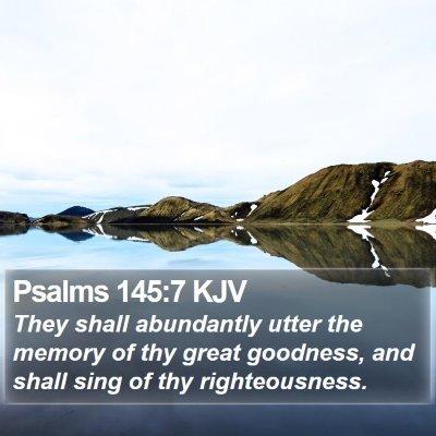 Psalms 145:7 KJV Bible Verse Image