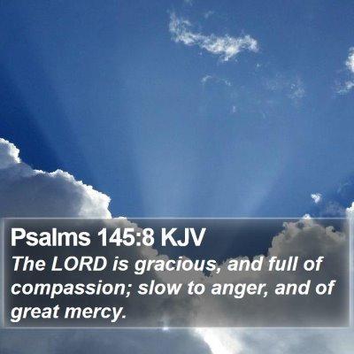 Psalms 145:8 KJV Bible Verse Image