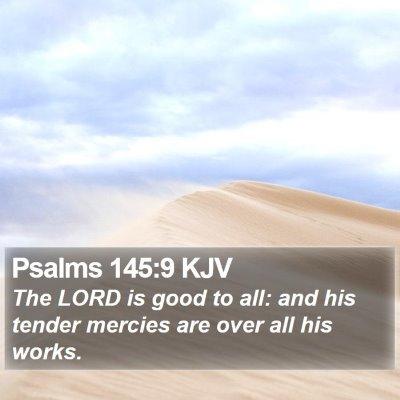 Psalms 145:9 KJV Bible Verse Image