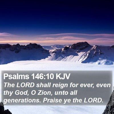 Psalms 146:10 KJV Bible Verse Image