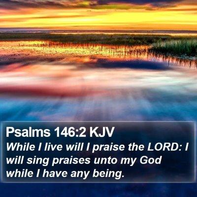 Psalms 146:2 KJV Bible Verse Image