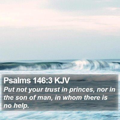 Psalms 146:3 KJV Bible Verse Image