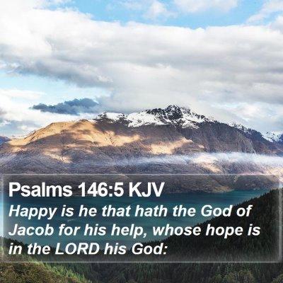 Psalms 146:5 KJV Bible Verse Image