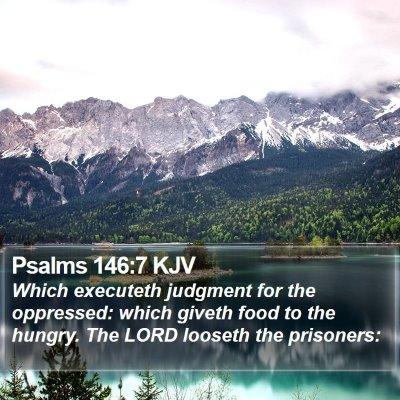Psalms 146:7 KJV Bible Verse Image