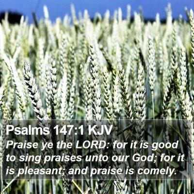 Psalms 147:1 KJV Bible Verse Image