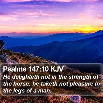 Psalms 147:10 KJV Bible Verse Image