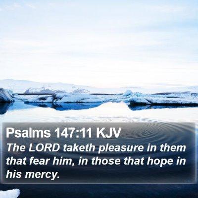 Psalms 147:11 KJV Bible Verse Image