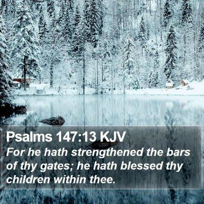 Psalms 147:13 KJV Bible Verse Image