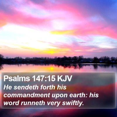 Psalms 147:15 KJV Bible Verse Image