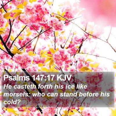 Psalms 147:17 KJV Bible Verse Image