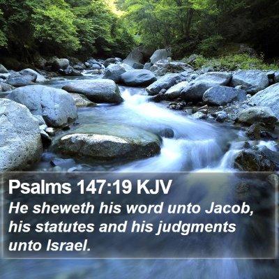 Psalms 147:19 KJV Bible Verse Image