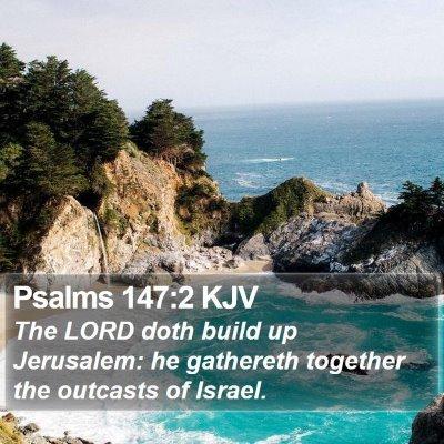 Psalms 147:2 KJV Bible Verse Image