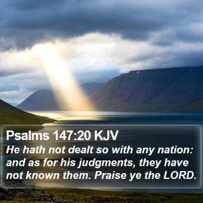 Psalms 147:20 KJV Bible Verse Image