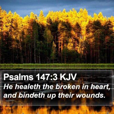 Psalms 147:3 KJV Bible Verse Image