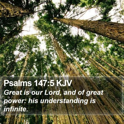 Psalms 147:5 KJV Bible Verse Image