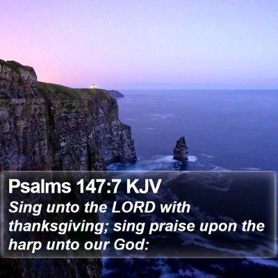 Psalms 147:7 KJV Bible Verse Image