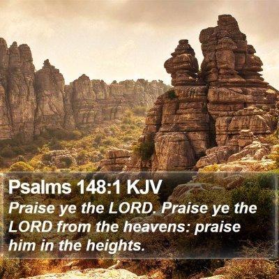 Psalms 148:1 KJV Bible Verse Image