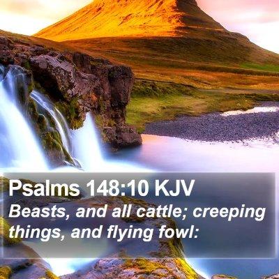 Psalms 148:10 KJV Bible Verse Image
