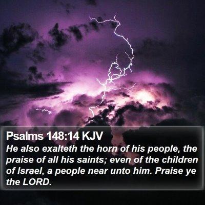 Psalms 148:14 KJV Bible Verse Image